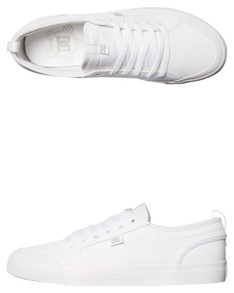 WHITE MENS FOOTWEAR DC SHOES SNEAKERS - ADYS300286WHT