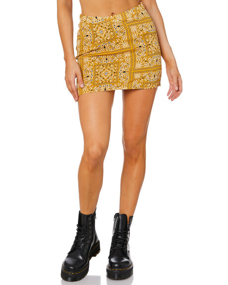 MULTI WOMENS CLOTHING JAGGER AND STONE SKIRTS - JS078-3_MLT