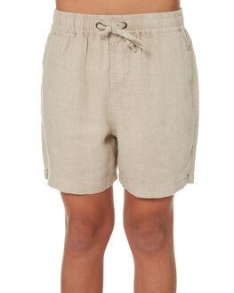 OATMEAL KIDS BOYS ACADEMY BRAND SHORTS - B19S609OAT