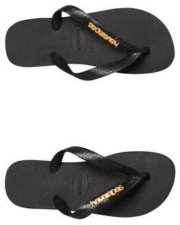 BLACK WOMENS FOOTWEAR HAVAIANAS THONGS - 41272441069