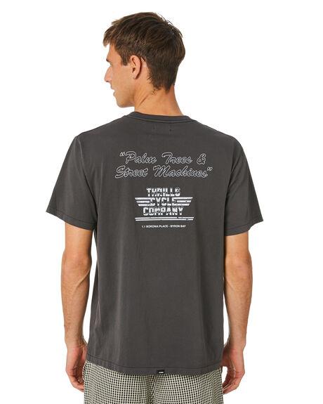VINTAGE BLACK MENS CLOTHING THRILLS TEES - TH20-138BVVNTBK