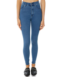 PURE MID BLUE WOMENS CLOTHING DR DENIM JEANS - 1510112G04