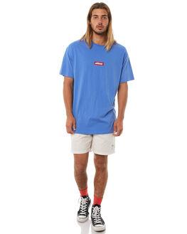 POP BLUE MENS CLOTHING STUSSY TEES - ST073015PBLU