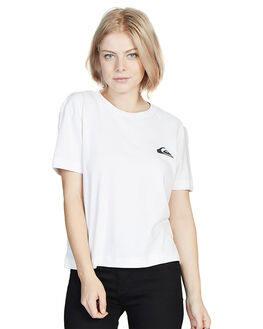 WHITE WOMENS CLOTHING QUIKSILVER TEES - EQWKT03003-WBB0
