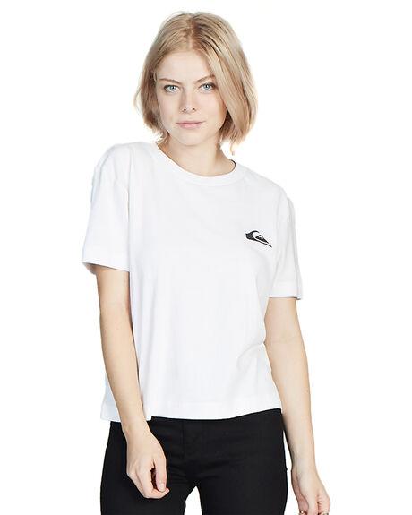 WHITE WOMENS CLOTHING QUIKSILVER TEES - EQWKT03003-WBB0