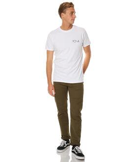 WHITE MENS CLOTHING POLAR SKATE CO. TEES - HAPSADWHT