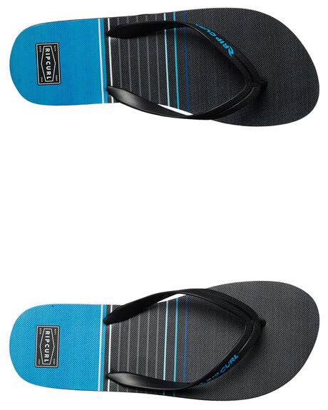 BLACK BLUE MENS FOOTWEAR RIP CURL THONGS - TCTE900107