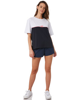 WHITE NAVY WOMENS CLOTHING HUFFER TEES - WTE943S7903WHI