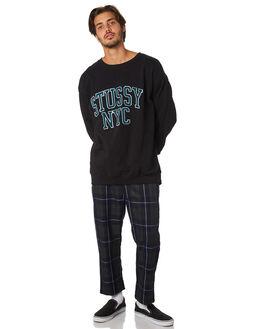 BLACK MENS CLOTHING STUSSY JUMPERS - ST097207BLK