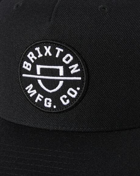 BLACK MENS ACCESSORIES BRIXTON HEADWEAR - 10650BLACK