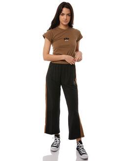 WASHED BLACK WOMENS CLOTHING RVCA PANTS - R284271WBLK