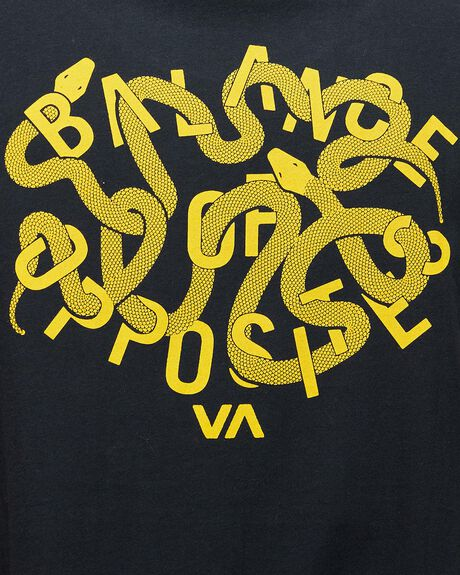 BLACK MENS CLOTHING RVCA SINGLETS - RV-R192006-BLK