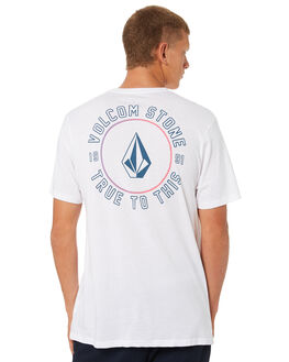 WHITE OUTLET MENS VOLCOM TEES - A504189GWHT