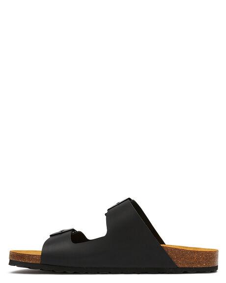 BLACK MENS FOOTWEAR SWELL SLIDES - 100010BLK