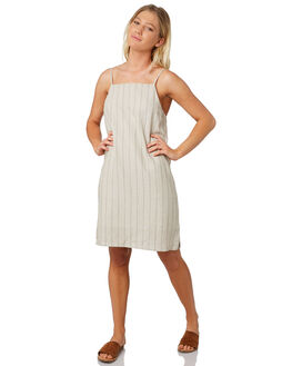 NATURAL STRIPE WOMENS CLOTHING ELWOOD DRESSES - W91713-5FE