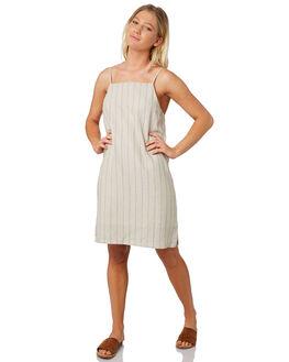 NATURAL STRIPE WOMENS CLOTHING ELWOOD DRESSES - W91713-5FE