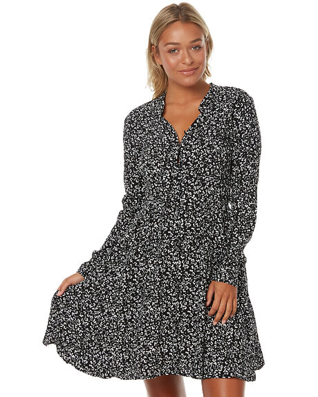 BLACK MIRAGE WOMENS CLOTHING ROLLAS DRESSES - 12245BLK