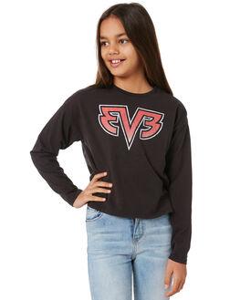 WASHED BLACK KIDS GIRLS EVES SISTER TOPS - 9551006WBLK