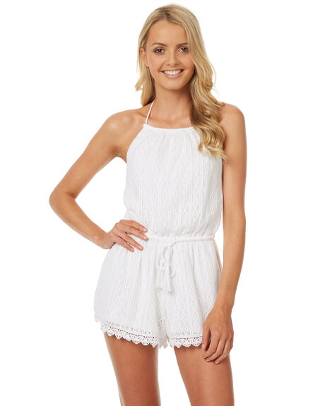 WHITE WOMENS CLOTHING RIP CURL PLAYSUITS + OVERALLS - GDREV1WHT