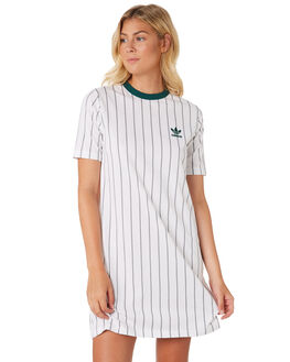 WHITE WOMENS CLOTHING ADIDAS DRESSES - DU9934WHT