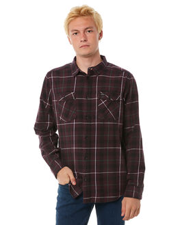 DEEP PLUM MENS CLOTHING RVCA SHIRTS - R372190DPLUM
