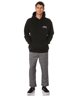 BLACK MENS CLOTHING STUSSY JUMPERS - ST007202BLK