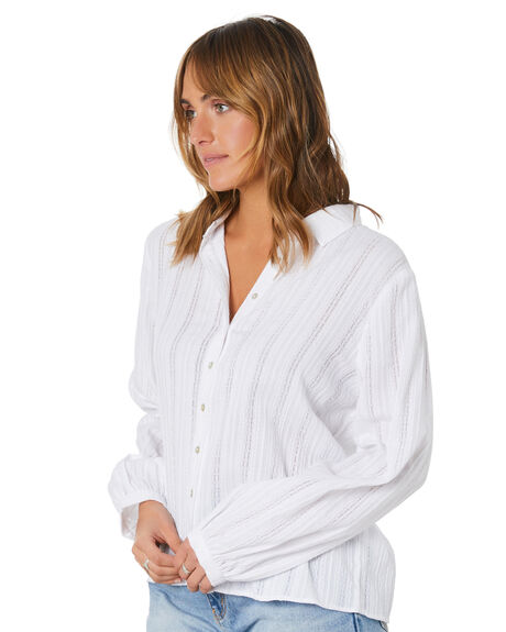 WHITE WOMENS CLOTHING RUSTY FASHION TOPS - SCL0362WHT