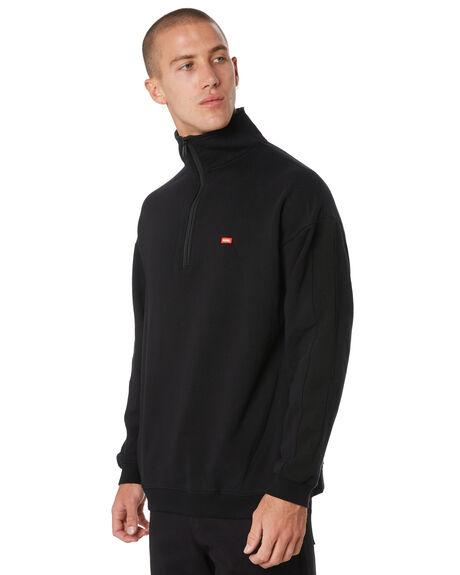 BLACK MENS CLOTHING GLOBE JUMPERS - GB01933004BLK