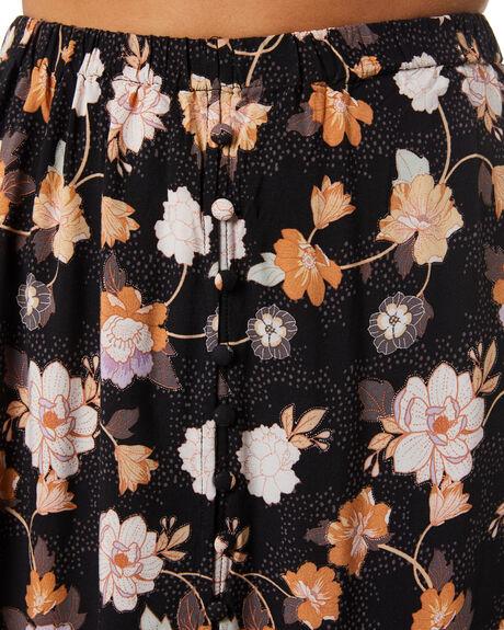 WASHED BLACK WOMENS CLOTHING RIP CURL SKIRTS - GSKAT98264