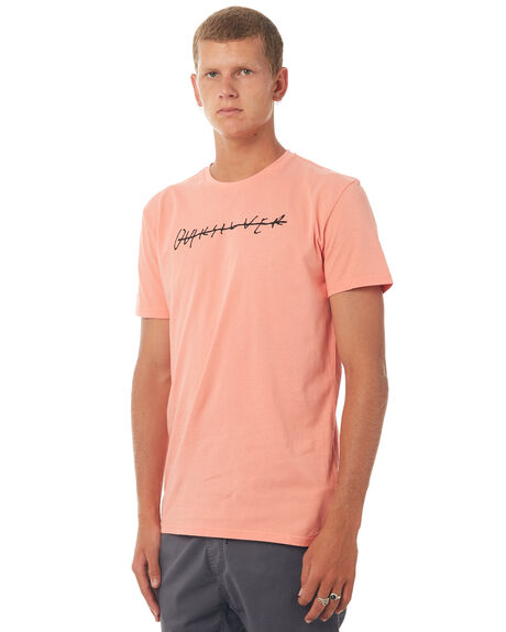 BURNT CORAL MENS CLOTHING QUIKSILVER TEES - EQYZT04592MHP0