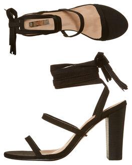 BLACK SUEDE WOMENS FOOTWEAR BILLINI HEELS - H734BLKSD