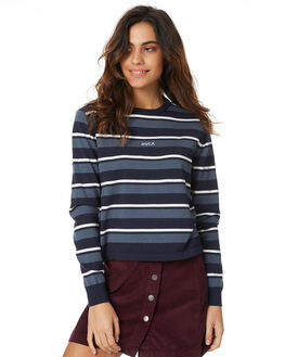 NAVY WOMENS CLOTHING RVCA KNITS + CARDIGANS - R271362NAVY