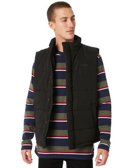 BLACK MENS CLOTHING HUFFER JACKETS - MDVE81S1801BLK