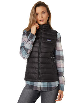 BLACK WOMENS CLOTHING PATAGONIA JACKETS - 84628BLK