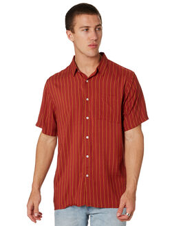 RUSTIC RED MENS CLOTHING BILLABONG SHIRTS - 9582211MRSRED
