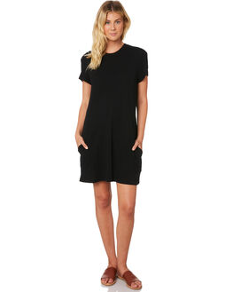 BLACK WOMENS CLOTHING RUSTY DRESSES - DRL0952BLK