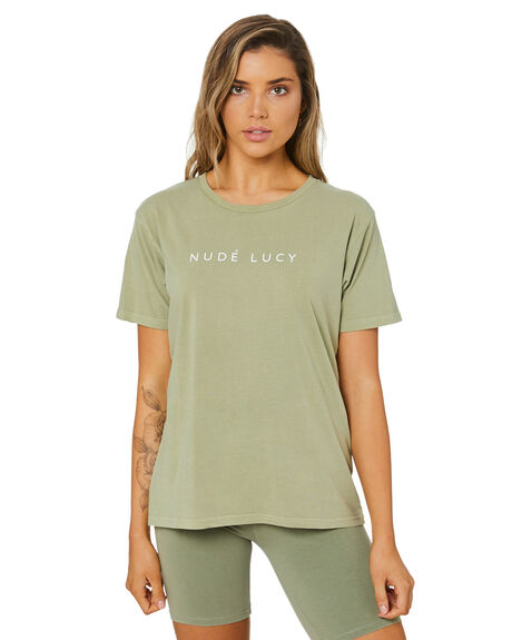 WASHED SAGE WOMENS CLOTHING NUDE LUCY TEES - NU24116WSAGE