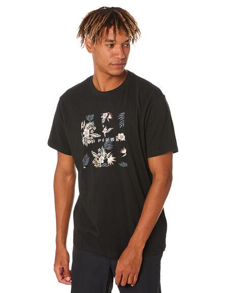 BLACK MENS CLOTHING RIP CURL TEES - CTEMS90090