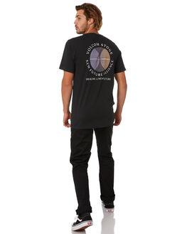 BLACK MENS CLOTHING VOLCOM TEES - A5012070BLK