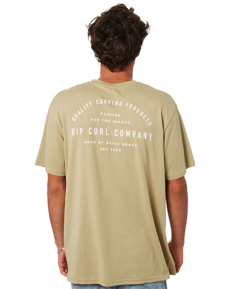 OLIVE MENS CLOTHING RIP CURL TEES - CTERO90058