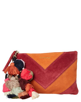 CERISE SUEDE WOMENS ACCESSORIES THE WOLF GANG PURSES + WALLETS - TWGAW19A04-CECRS