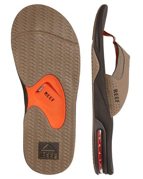 BROWN ORANGE MENS FOOTWEAR REEF THONGS - 2026BWO