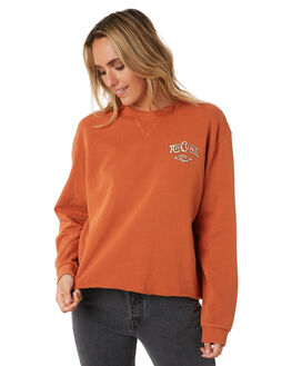 BURNT ORANGE WOMENS CLOTHING RIP CURL JUMPERS - GFEJG11257