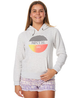 LIGHT GREY MARLE KIDS GIRLS RIP CURL JUMPERS - JFEAY13597