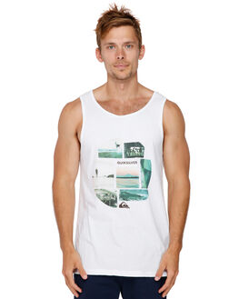 WHITE MENS CLOTHING QUIKSILVER SINGLETS - EQYZT05138WBB0