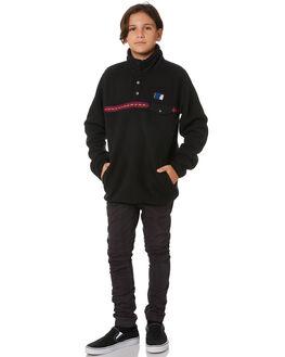 BLACK KIDS BOYS RIP CURL JUMPERS + JACKETS - KFEQV10090