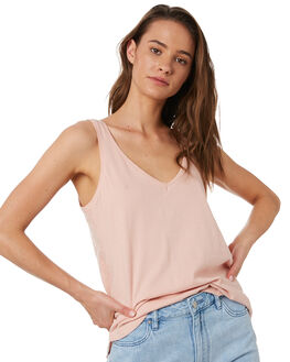 BLUSH WOMENS CLOTHING SILENT THEORY SINGLETS - 6008000PNK