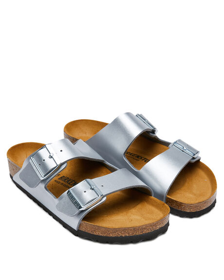 SILVER WOMENS FOOTWEAR BIRKENSTOCK FASHION SANDALS - 1012282SIL
