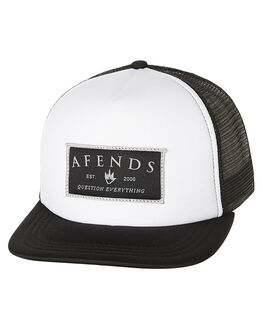 WHITE OUTLET MENS AFENDS HEADWEAR - 13-01-038WHT