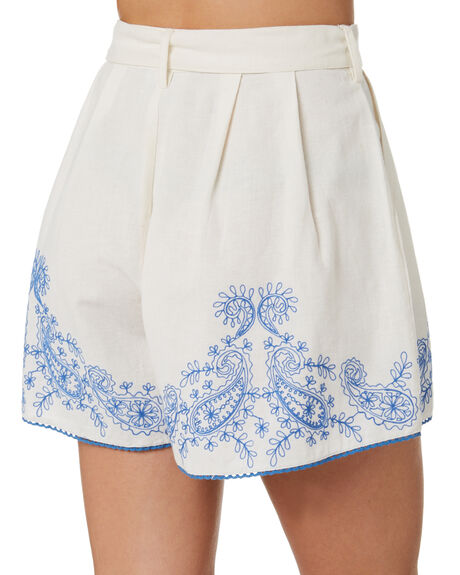 WHITE OUTLET WOMENS TIGERLILY SHORTS - T305379WHT